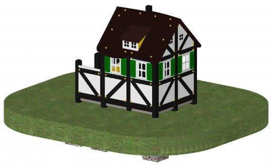 Spielhaus Fachwerk  mit Vorbau
